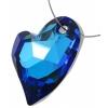 Devoted 2U Heart 36mm Bermuda Blue Crystal P